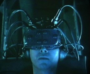 Early depictions of a jacked-in, always on networked future included images of virtual reality prosthetics and cyborg body modification, often against a backdrop of a Dystopian and depressed world.