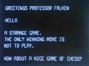 """How about a nice game of chess?"" War Games, 1983"