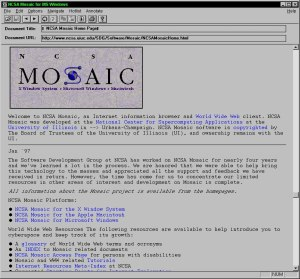 NCSA Mosaic, a GUI interface to the WWW.