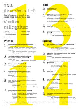UCLA GSEIS 2013-2014 Colloquium Series