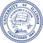 The seal of the University of Illinois, now a no-go area for thousands of academics.