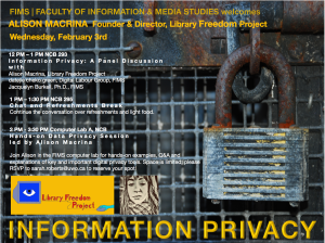 Three Library Freedom Project events at FIMS