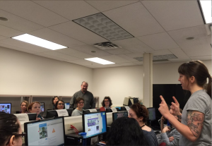 At the hands-on workshop, Alison Macrina introduced Tor browser and other security tools to FIMS students, faculty and staff.